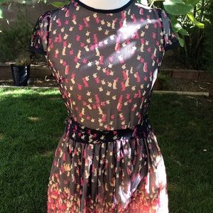 Valentino Dresses - VALENTINO Bunny Print Silk Dress